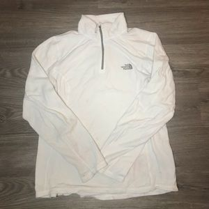 Womens The North Face White Fleece Jacket